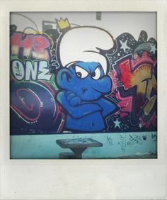 Smurf street art, Buenos Aires