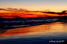 """Photo of the Week 20131125  """"Lido Blue Fire"""" Taken September 25, 2013 at Point Lookout Town Beach. Taken with iphone 5.  Click the link on my profile for the hi resolution version."""