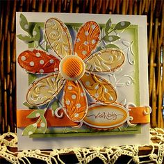Gorgeous Pick a Petal Card...love this!