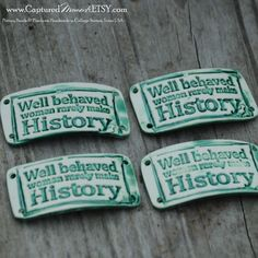 Pottery Bead for Bracelet Well behaved women by CapturedMoments, $5.25