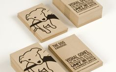 Dog & Wardrobe Brand Identity | Branch #businesscard #stamp