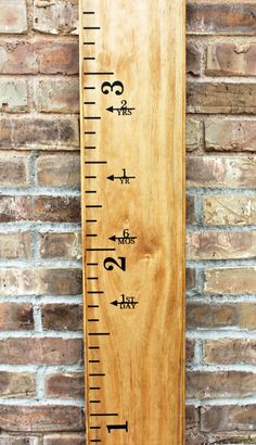 Height Marker for Growth Chart Ruler - Vinyl Decal Arrow with Years - Measuring…