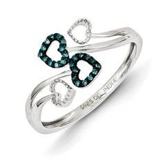 Blue Diamond Promise Ring $113