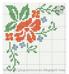 This Pin was discovered by pel Mini Cross Stitch, Cross Stitch Borders, Cross Stitch Rose, Cross Stitch Flowers, Cross Stitch Charts, Cross Stitch Designs, Cross Stitching, Cross Stitch Embroidery, Embroidery Patterns