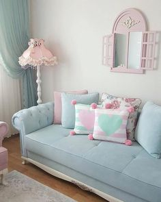 Cozy and Colorful Pastel Living Room Interior Style 36 Pastel Living Room, Cozy Living Rooms, Living Room Interior, Interior Livingroom, Home Decor Furniture, Living Room Furniture, Living Room Decor, Bedroom Decor, Design Your Home