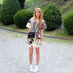 So cute with classic kicks! | 50 Inspiring #StreetStyle Outfits To Try For Summer via @Who What Wear