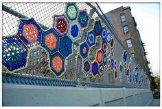 Crystal Gregory is an urban artist who does cool crochet work on the streets of New York.
