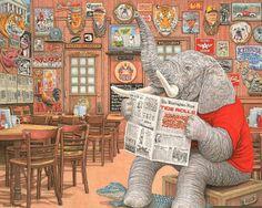 alabama crimson tide football elephants | Elephant In The Room Alabama Crimson Tide Football Mascot Prints