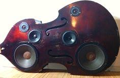 Upright Bass Speaker Box by BassBoxShop on Etsy, $1,500.00