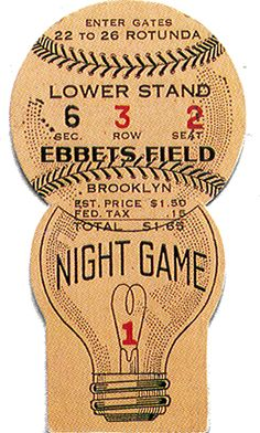 A look at a vintage baseball ticket « Baseballminutia