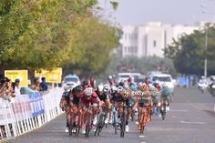 #TOO2017 8th Tour of Oman 2017 / Stage 4 Arrival / Sprint / Alexander KRISTOFF (NOR)/ Sonny COLBRELLI (ITA)/ Greg VAN AVERMAET (BEL)/ Nathan HAAS (AUS)/ Yiti (Jebel Sifah) - Ministry of Tourism (118km) /