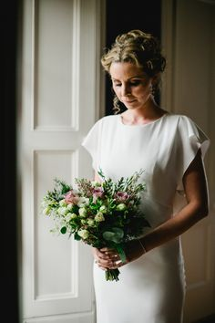Lavender and white rose bridal bouquet   Photography by http://www.wearethelous.com/