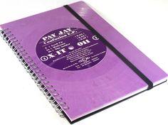 Notizbuch  aus Schallplatte Vinyl Color  upcycling von VinylKunst Aurum - Schallplatten Upcycling der besonderen ART auf DaWanda.com