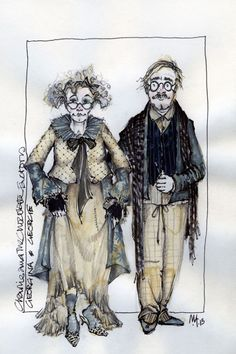 Charlie and the Chocolate Factory (Georgina and George). West End. Costume design by Mark Thompson.