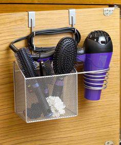 Look at this #zulilyfind! Chrome Over-the-Cabinet Hair Dryer Organizer #zulilyfinds
