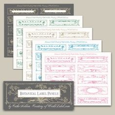 Free printable labels with a Botanical theme, editable PDF templates, 5 colors to choose from.. Excellent for favor, books and lots more..by @catheholden