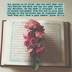 Allah praises himself for revealing His mighty Book to his noble messenger Muhammad (pbuh) which is the greatest blessing that Allah has…