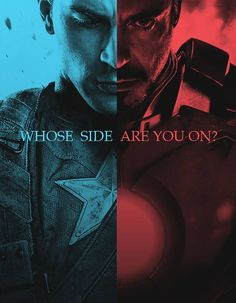 Marvel's Civil War is coming to the big screen! Would you join Iron Man's Team or fight in the shadows with Captain America?