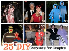 Looking for some inspiration for Halloween? Here are 25 DIY costumes for couples that are sure to please!