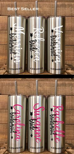 Wedding party members bridesmaid gifts 61 ideas for 2019 Unique Wedding Gifts, Bridal Gifts, Trendy Wedding, Summer Wedding, Bf Gifts, Party Gifts, Wedding Reception Themes, Wedding Ideas, Insulated Cups