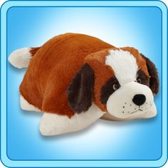 A super-soft chenille plush folding stuffed animal. So cuddly you'll never want to put it down! Starts out as your pal, then un-velcro its belly, and it quickly becomes your pillow. Available Sizes (Length): Ages Cute Stuffed Animals, Dinosaur Stuffed Animal, White Pillow Cases, Toddler Pillow, Buy Pillows, St Bernard Dogs, Animal Jam, Animal Pillows, Pillow Pets