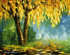 THE LEAVES THAT NEVER FALL - Original Oil Painting On Canvas By Leonid Afremov http://afremov.com/THE-LEAVES-THAT-NEVER-FALL-Original-Oil-Painting-On-Canvas-By-Leonid-Afremov-16-x20-40cm-x-50cm.html?utm_source=s-pinterest&utm_medium=/afremov_usa&utm_campaign=ADD-YOUR
