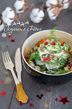 christmas tree salad - raw food - keimling