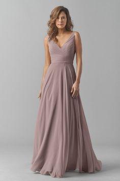 Watters 8542i Bridesmaid Dress in Brown in Chiffon