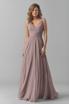 Watters 8542i Bridesmaid Dress in Brown in Chiffon