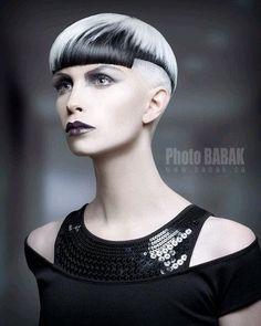~ Hair / Hair Style / Hair Color / Hair Cut / Fashion / Models / Beauty / Beauty Salon / Make up / Short Hair Cuts, Short Hair Styles, Creative Haircuts, Foto Fashion, Fashion Models, Fashion Hair, High Fashion, Corte Y Color, Fantasy Hair