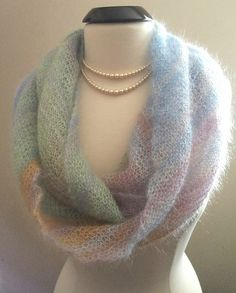 Ravelry: Kidsilk Haze Cowl - One Ball pattern by Roxanne Wood {free}.
