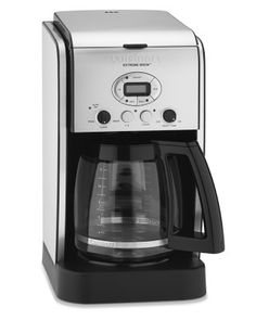 Cuisinart 12-Cup Extreme Brew Coffee Maker with Glass Carafe #williamssonoma 24 hour programmable, brews coffee up to 25% faster then most coffee brewers. Adjustable settings for number of desired cups of coffee to be brewed.