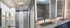 Top 70 Best Bathroom Vanity Ideas – Unique Vanities And Countertops – Top Trend – Decor – Life Style Best Bathroom Lighting, Shower Lighting, Bathroom Mirror Lights, Basement Lighting, Closet Lighting, Mirror With Lights, Living Room Lighting, Bedroom Lighting, Interior Lighting