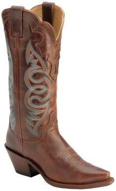 "Justin Saddle Torino Cowgirl Boots - Snip Toe 13"" shaft  - Sheplers"