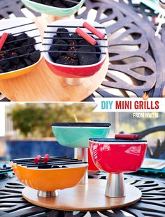 #DIY Tutorial: Mini Charcoal Grill Trio Centerpiece from Hostess with the Mostess