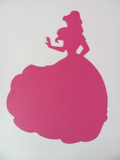 Disney inspired Princess Belle from Beauty and the Beast silhouette for a nursery or little girl's room, Paper Art.