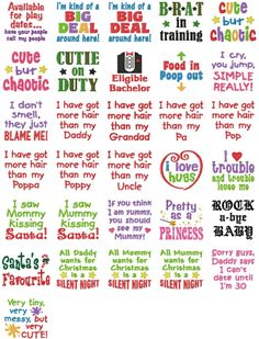 Baby sayings and other cute embys