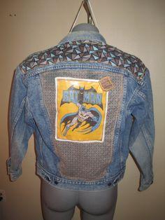 Vintage Levi's Denim Jean Jacket embellished by GrapesAndBananas, $49.00