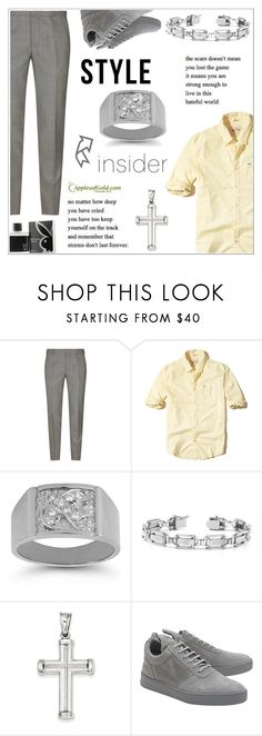 """Style Insider: Men's Fashion"" by applesofgoldjewelry ❤ liked on Polyvore featuring Alexander McQueen, Hollister Co., Filling Pieces, Apples of Gold, Playboy, men's fashion and menswear"