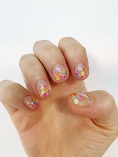 Korean nail design Korean Nail Art, Korean Nails, Nail Designs, Dots, Nail Desings, Nail Design, Stitches, Nail Organization, Polka Dot