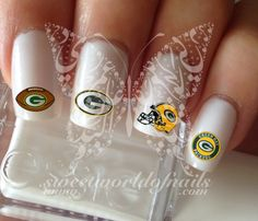 Green Bay Packers Cowboys Football Nail Art Water Decals Nail Transfers Wraps