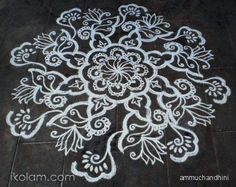 Vector Designs for Diwali Rangoli | Alpana Bengali Rangoli Design Pic 22 - kootation.com