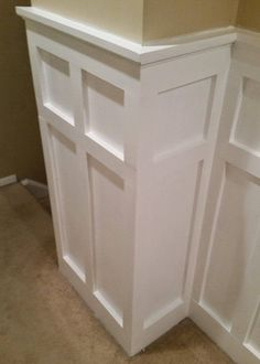 A Step-by-Step Tutorial on How to Install White Painted Board and Batten Wainscoting in a Square over Rectangle Pattern