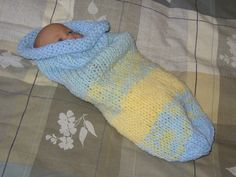 Baby Cuddle Sack Hand Knit (Free Pattern)