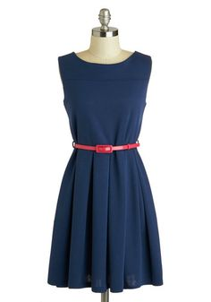 'Tis a Shift to Be Simple Dress in Navy, #ModCloth