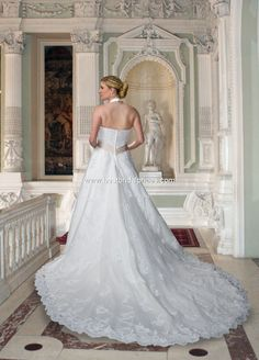 Style T8172 - Full Figured » Wedding Gowns » DaVinci Bridal » Available Colours : Ivory/Cafe, Ivory/Ivory, White/Cafe, White/White (back)