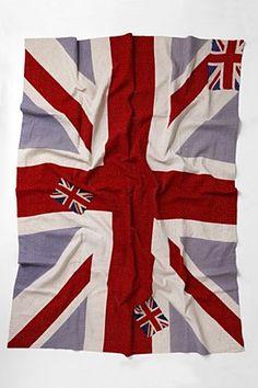 anthropologie quilt british flag