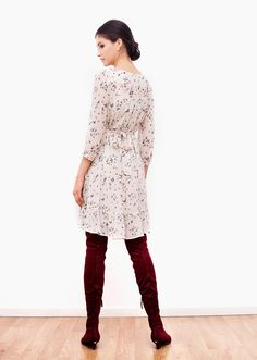 This dress is about simple, joyful elegance. It's flared silhouette and delicate butterfly print provide for a sense of fresh innocence and youthful appeal. The soft colours enhance its femininity and timeless charm. Soft Colors, Colours, Fall Capsule, Butterfly Print, Femininity, Joyful, Delicate, Silhouette, Fresh