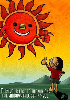 """Maori & Sun"" illustrated by Noah's ART Sun Tattoos, Kiwiana, Sketch Inspiration, Project Based Learning, Japanese Artists, Cursed Child Book, My Sunshine, Art Gallery, Drawings"