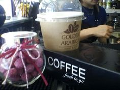 Coffee and  bonbon!!!!!!!#golden arabica